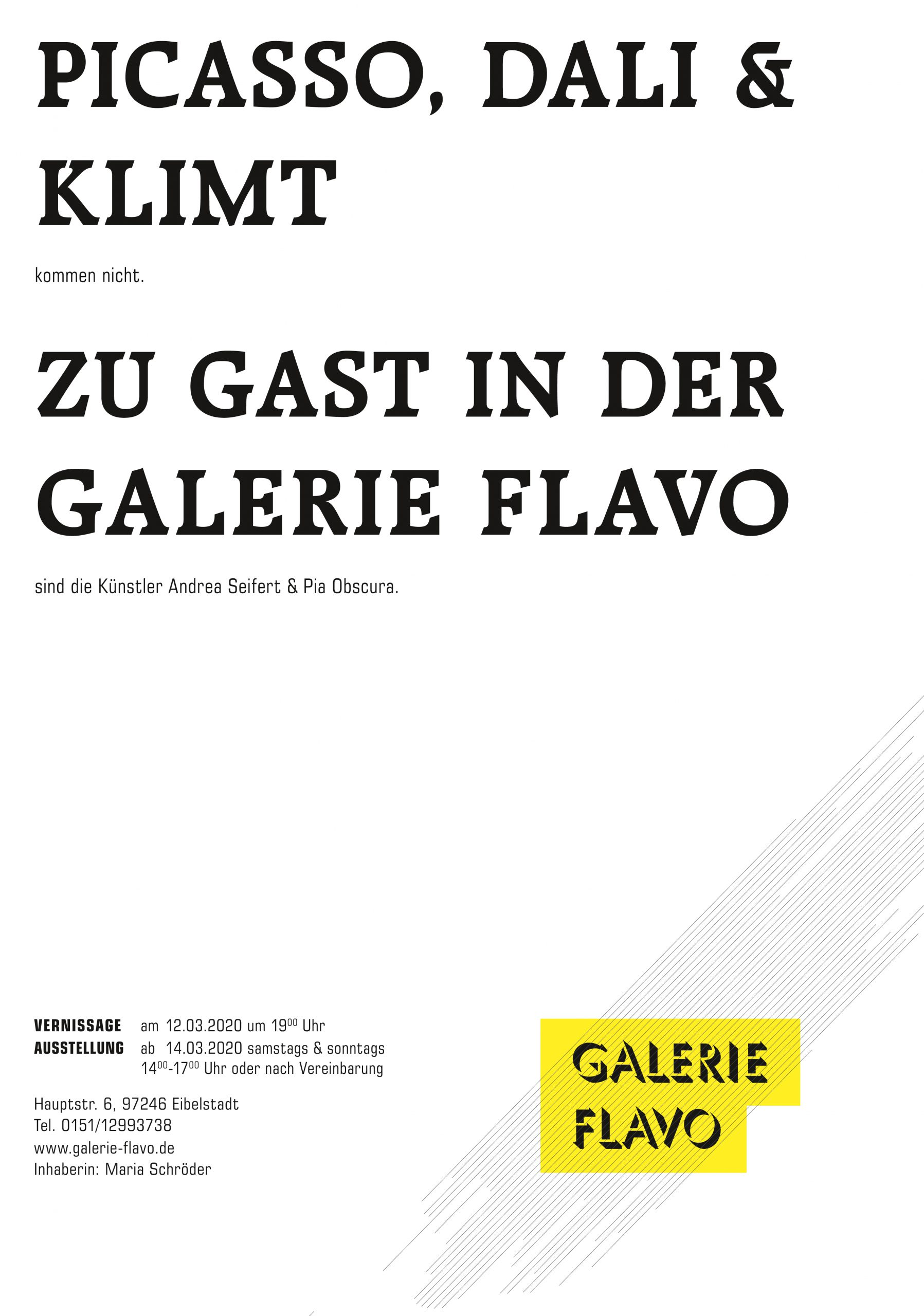 Ausstellung Pia Obscura Galerie Flavo